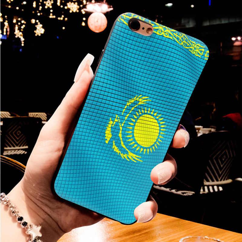 MaiYaCa las banderas de Kazajstán Malasia dibujo de colores suave tpu funda de teléfono para iPhone 6 7 6S Plus X 8plus 5 SE 5C caso Coque