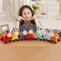 7 Pcs A Lot Adorable Colorful Pony Plush Toy Cartoon Soft Pony Toys For Children