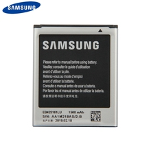 Original Samsung Battery EB425161LU For Samsung GT-S7562L S7560 S7566 S7568 S7572 S7580 i8190 I739 i759 I669 I8160 S7582 J1mini 2300 мач мобильный телефон литий ионная батарея для samsung галактики s3 мини для gt i8190 можно i8160