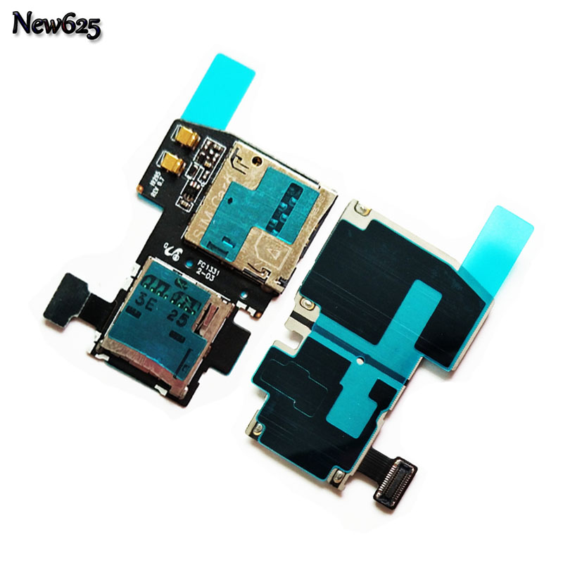 New Micro SD SIM Card Tray Slot Holder Flex Cable For Samsung Galaxy S4 Active i9295 Sim Cards Adapters Replacement