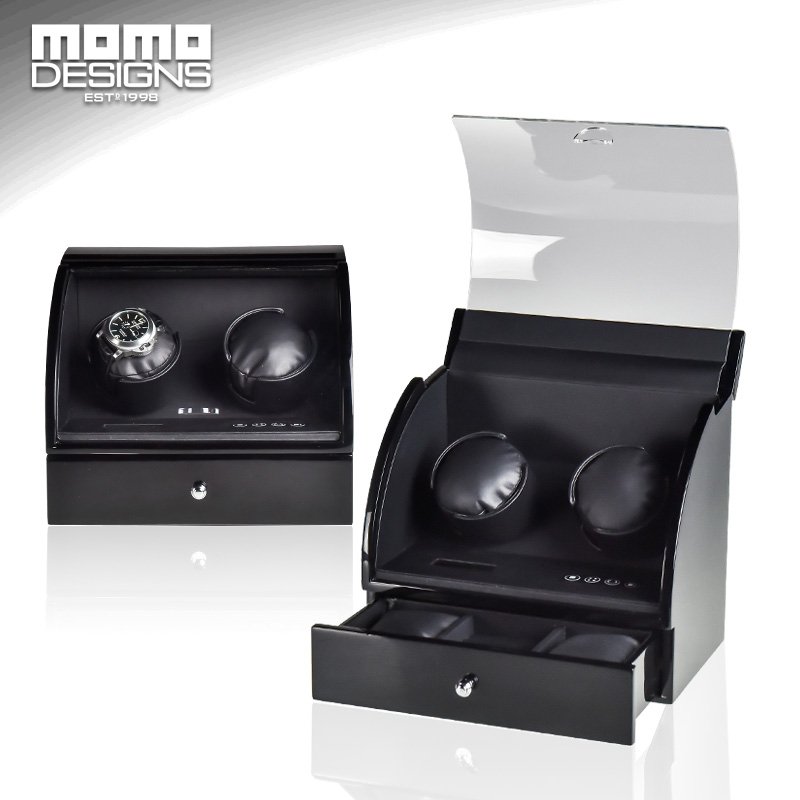 Luxury watch winder GIAPPONE MABUCHI motor winder per 2 + 2 box orologio automatico catena winder storage case display bobina avvolgitore