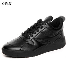 Men's PU Leather Shoes Classic Designer Casual Shoes Lace Up Flats Quality Brand Trainers Black White Red Wholesale Non-slip
