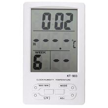 Best price Digital LCD Thermometer Hygrometer Electronic Temperature Humidity Meter Weather Station Indoor Outdoor Tester Alarm Clock