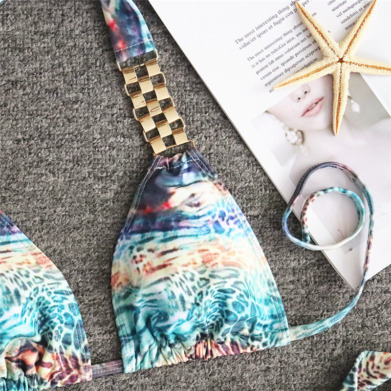 HTB1O3izeL1H3KVjSZFBq6zSMXXan Bikinx Snake print bikinis 2019 mujer bathing suit Triangle sexy female swimsuit Push up swimwear women bathers Micro bikini new