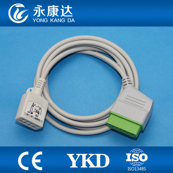 JC-906P Nihon kohden ecg trunk cable 3/6 leads for BR-903P/BR-906PJC-906P Nihon kohden ecg trunk cable 3/6 leads for BR-903P/BR-906P