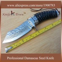 Handmade knife stainless steel knife Damascus steel blade camping knife hunting knife fixed blade outdoor tool DT123