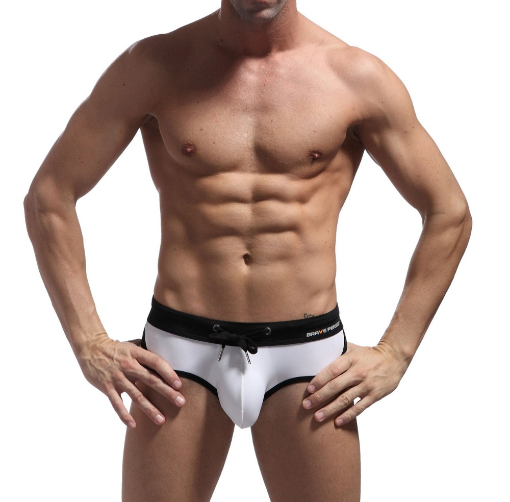 Brave Person Sexy Mens Super Soft Mini Bikinis Short Underwear Bikini Briefs Sexy Swimwear Swimsuits Beach Shorts