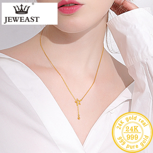Image 5 - Btss 24K Puur Goud Ketting Real Au 999 Effen Gouden Ketting Mooie Upscale Trendy Classic Party Fine Jewelry Hot verkoop Nieuwe 2020