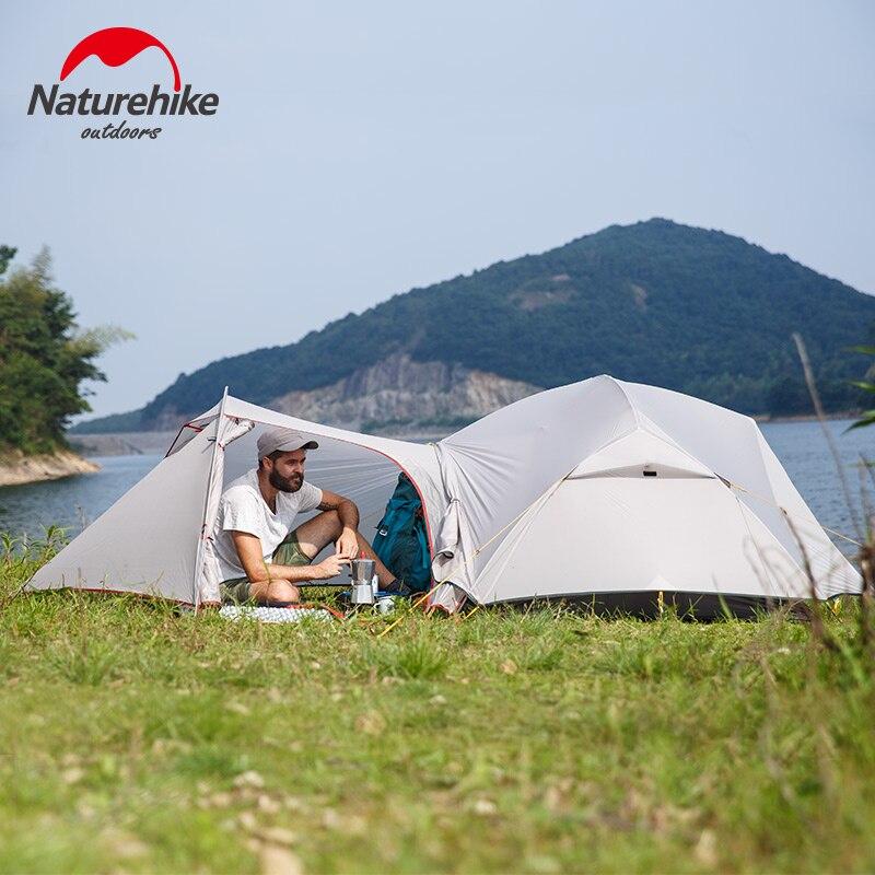 Naturehike nova Mongar 2 Pessoa Ultraleve Silicone Melhores Caminhadas Caça Montanhismo Barraca de Acampamento da Barraca de Acampamento Ao Ar Livre