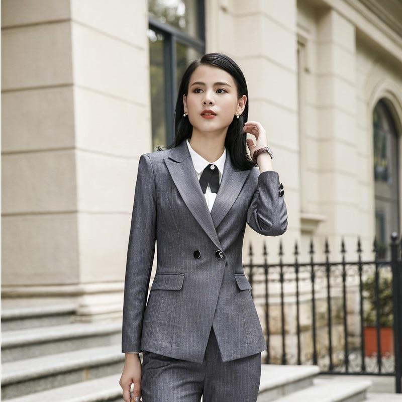 2019 Spring Fall Uniform Styles Formal Blazers Women Business Jackets Coat Long Sleeve Professional Office Tops Outwear