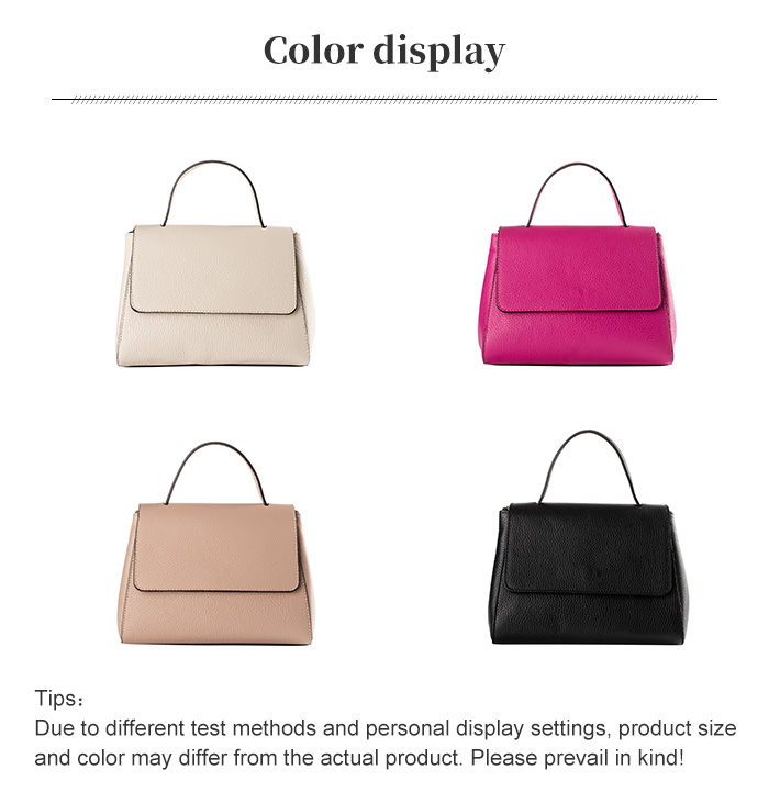 lulu milano Genuine leather Lady Pure color Fashion hand bag 85164 made in Italy 3