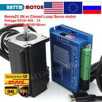 Nema23 3N.m Closed Loop Easy Servo motor 5A 88mm 3Nm(30Kg.cm) + 2HSS60 50VAC 2 Phase Hybrid Driver 6A CNC Controller Kit