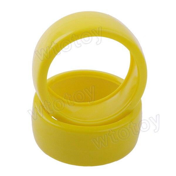 4 Pcs/Lot 60mm Duroplasts Wheels For RC 1/10 1:10 Drift Car Yellow  20630