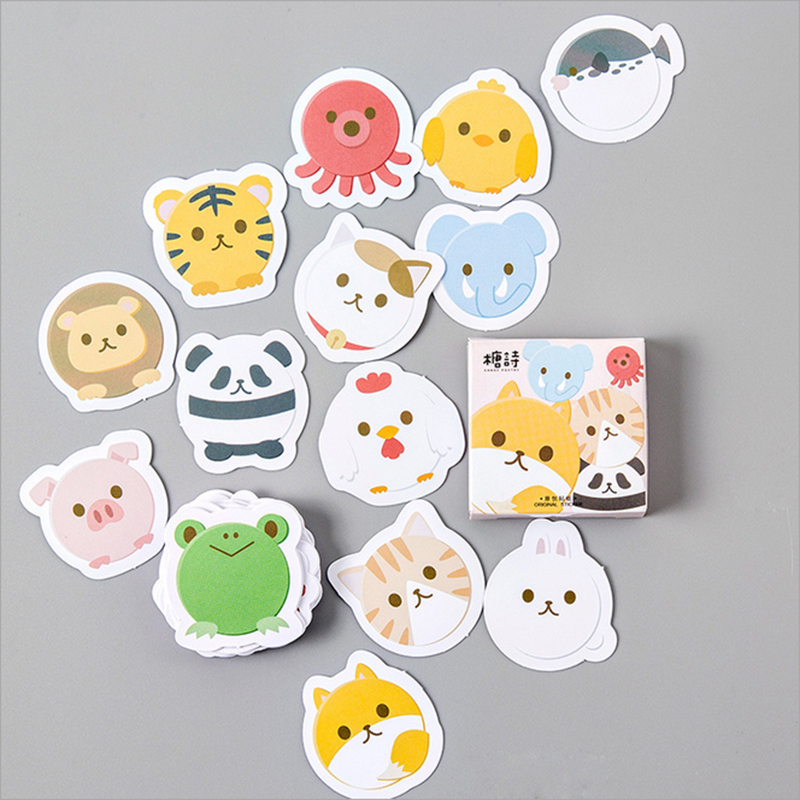 45pcs/pack Kawaii small animals Stickers Cute Diary Decoration Scrapbooking DIY seal Sticker office Stationery Free shipping 45pcs box cute animal crystal ball mini paper decoration stickers diy diary scrapbooking seal sticker stationery school supplies