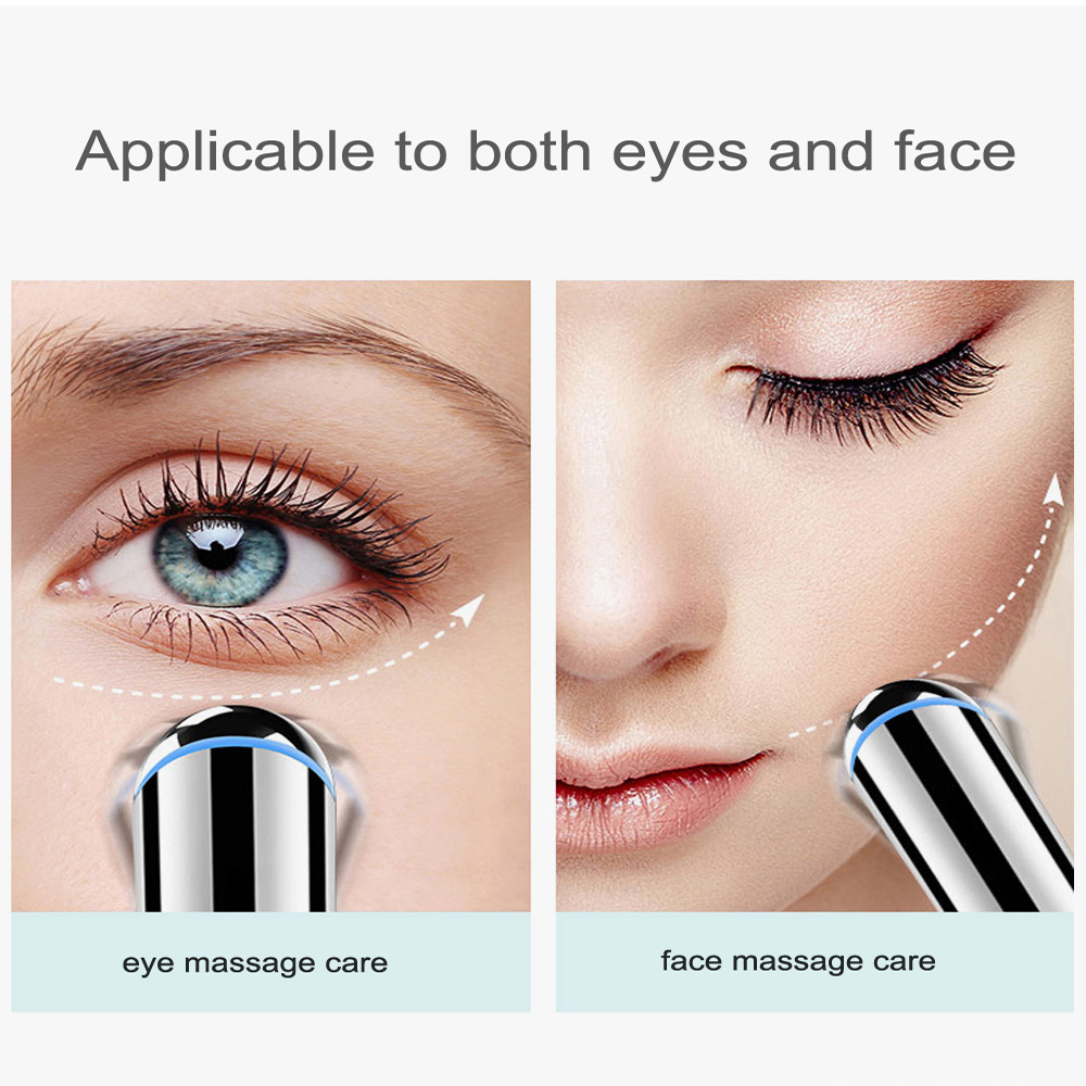Electric Vibration Eye Massager Eyes Care Device Dark Circle Removal Machine Puffiness Removal 2 In 1Beauty Mini Eye Massage Pen