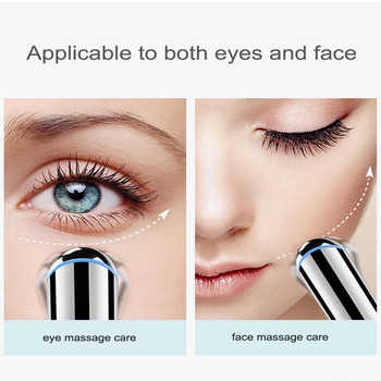 Electric Vibration Heated Eye Massager Eye Wrinkle Massage Pen Dark Circle Removal Puffiness Removal Anti Aging Eyes Care Tools