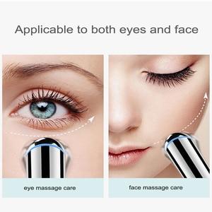 Image 4 - Elektrische Trillingen Verwarmd Eye Massager Eye Rimpel Massage Pen Dark Circle Verwijderen Wallen Verwijderen Anti Aging Ogen Care Tools