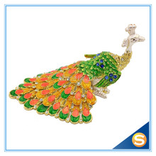 Wholesales Enamel handmade Peacock Jeweled Trinket Boxes Free Shipping Random Color