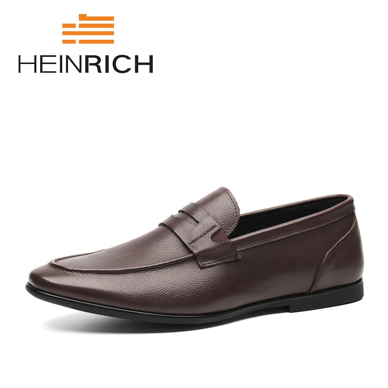HEINRICH New Men's Casual Shoes Spring Autumn Loafers England Fashion Breathable Slip-On Flats Shoes Sapato Masculino Luxo 2018 new men casual shoes man spring autumn loafers england fashion zapato breathable slip on flats