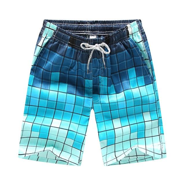 גברים מודפס החוף מהיר יבש מכנסי ריצה בגדי ים בגד ים בגד ים וחוף ספורט מכנסיים קצרים לוח מכנסיים קצרים בתוספת גודל