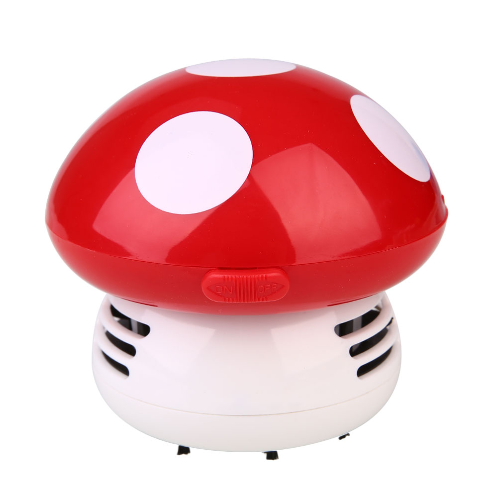 Мини Гриб угловой стол Вакуумный Очиститель пыли компьютера пластик - Цвет: red