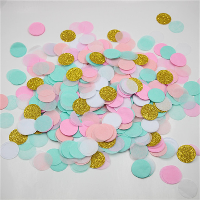 1 Inch Circle Blush Pink Mint Green Gold Glitter Wedding Confetti Party  Table Decor and Baby Shower Decor f5b84a6c46c0