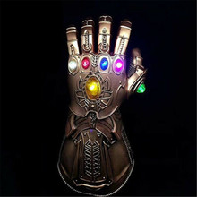2019 Brand New Fashion The Same Style Avengers Of Thanos LED Light Gauntlet Gloves Cosplay Costume Prop for Adult Kids
