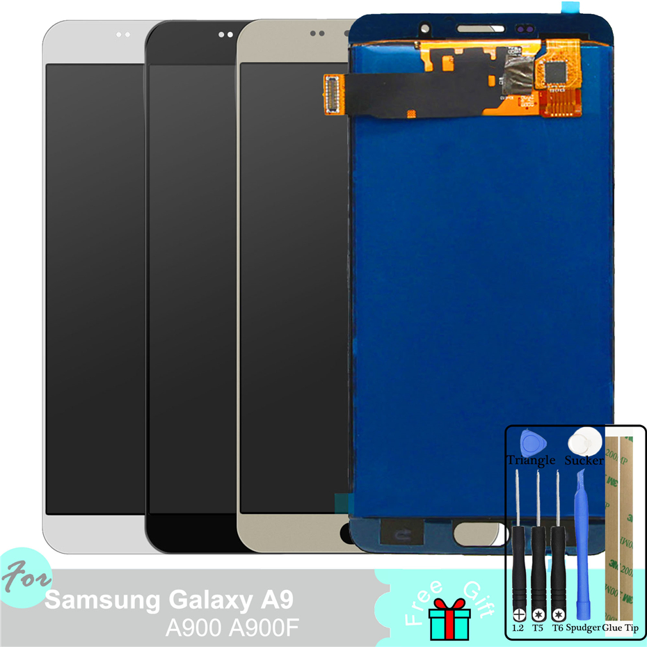 A900 TFT LCD Display for Samsung Galaxy A9 A9000 A900 A900F Touch Screen Digitizer Assembly Adjust BacklightA900 TFT LCD Display for Samsung Galaxy A9 A9000 A900 A900F Touch Screen Digitizer Assembly Adjust Backlight