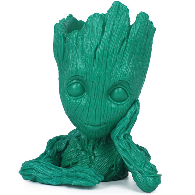 Color groot Baby Groot for Flowerpot Planter, Tree Man Pen Pot Trellis Flower Figure Toys
