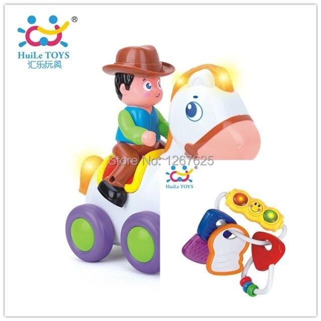 Safety Baby Key Buckle Rattles Chocalho Brinquedos Bebe Eletronicos Horse Free Shipping Huile Toys 838A & 306E