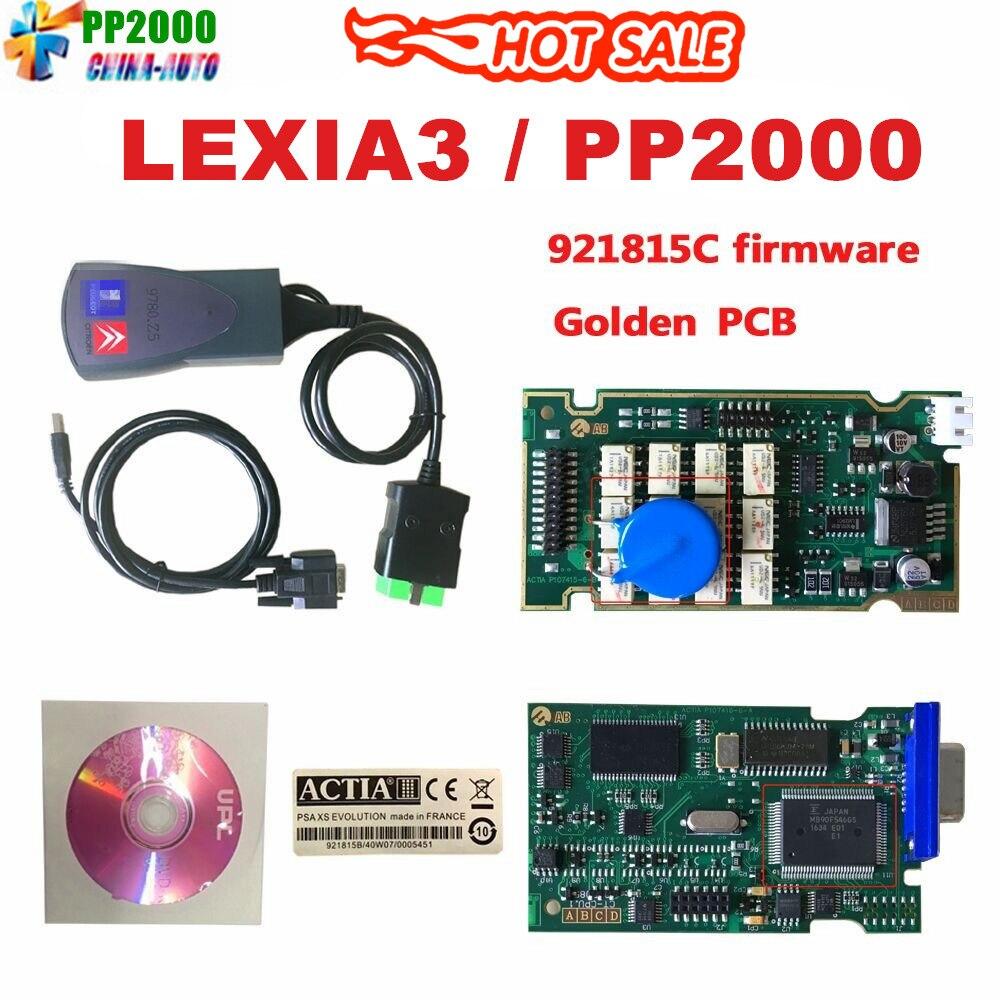 2019 neueste Lexia3 mit Serielle 921815C Firmware Goldene PCB lexia PP2000 Lexia 3 Diagbox V7.83 Lexia-3 diagnose werkzeug