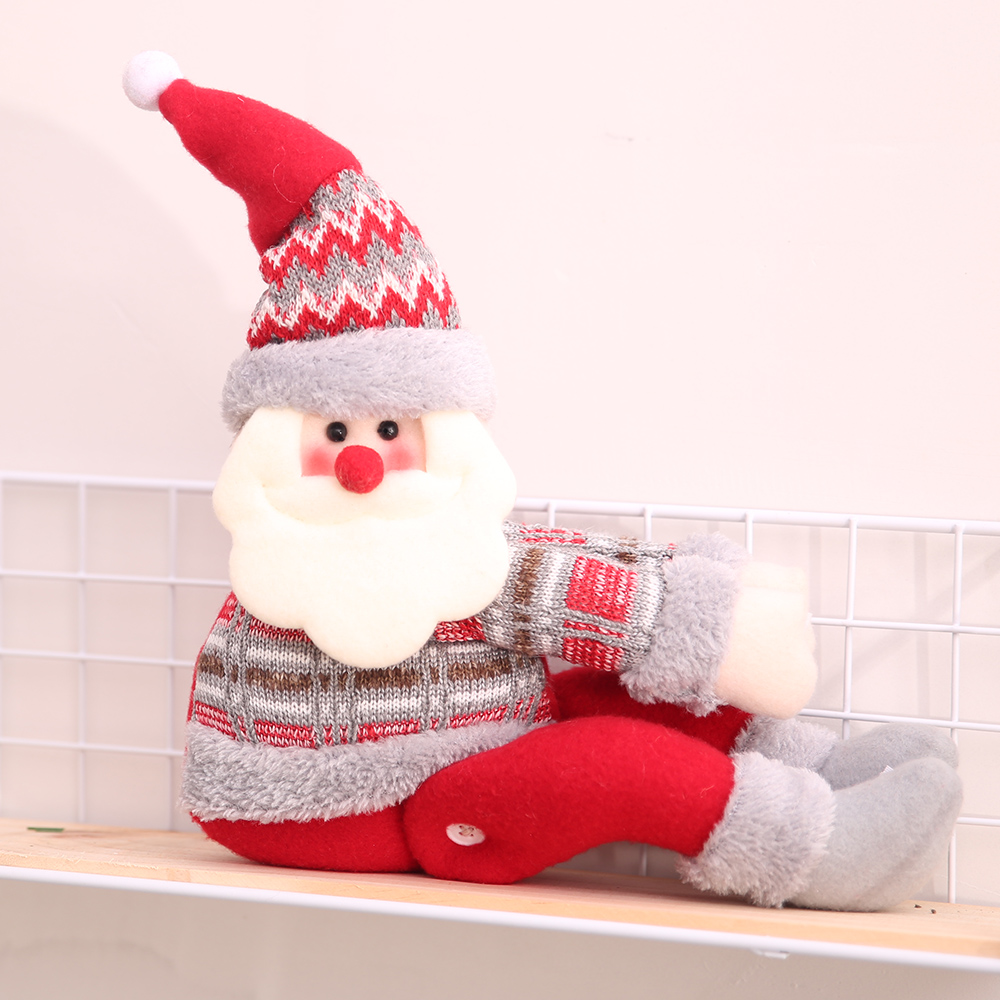 creative christmas decorations for home curtain buckle large santa claus snowman doll window showcase ornaments indoor decor in pendant drop ornaments - Christmas Decorations Large Santa Claus
