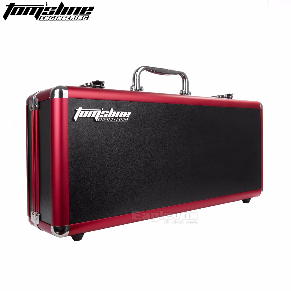 Aroma Flight Case for Electric Guitar Effects Pedal Board Hold 5 Pedals Carry Box Guitar Effect Pedal Case aroma adr 3 dumbler amp simulator guitar effect pedal mini single pedals with true bypass aluminium alloy guitar accessories