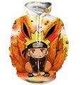 Classic Naruto Hooded Sweatshirts Kid Uzumaki Naruto 3D Hoodies Men Women Long Sleeve Outerwear Fashion Sportswear