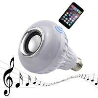 E27 Smart Bulb Light Dimmable 12W RGB Wireless Bluetooth Speaker Bulb Music Playing LED Light Lamp