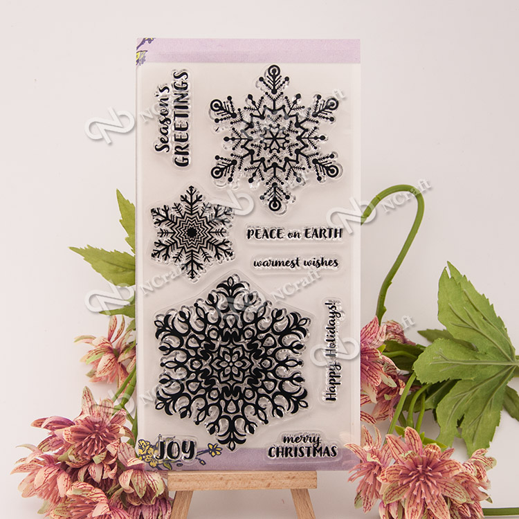 1 Sheet snow Transparent Clear Silicone Stamps for DIY Scrapbooking/Card Making/Kids Fun Decoration Supplies Flower kscraft butterfly and insects transparent clear silicone stamps for diy scrapbooking card making kids fun decoration supplies