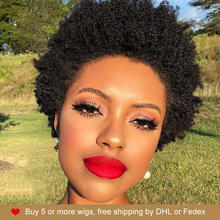 Rebecca Hair Cheap Wholesale Short Afro Kinky Curly Wig 100% Human Hair Natura Bob Straight Wigs For Black Women Free Shipping(China)