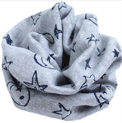 Новинка; сезон осень-зима; шарф из хлопка для девочек; Детский шарф; нагрудный шарф для мальчиков и девочек с круглым кольцом; милый детский шарф с воротником; Bufandas - Цвет: gray smile
