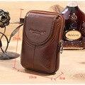 Homens cinto de couro genuíno Hip Bum Fanny bolsa bolsa de cintura do couro Real celular móvel / telefone do bolso chave cigarro bolsa Coin Purse