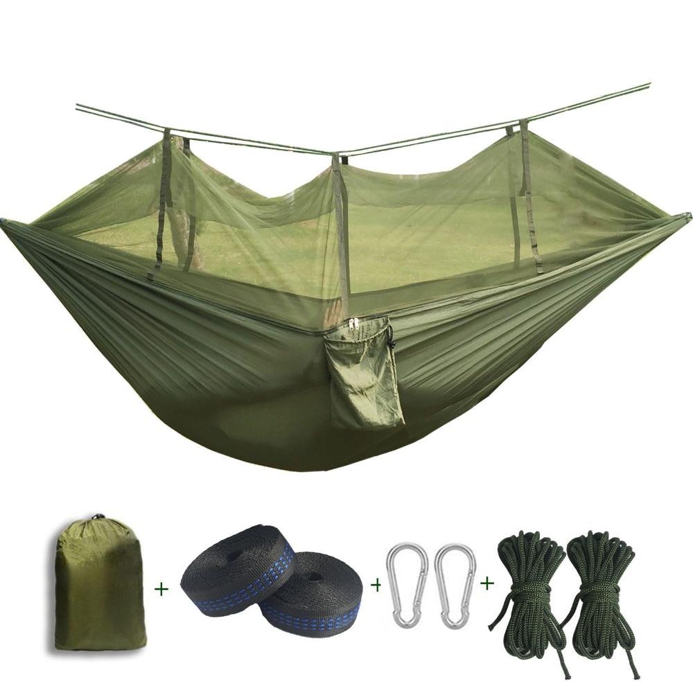 2017 Draagbare anti-muggenbeten Hangmat Parachute Stof Klamboe voor - Meubilair - Foto 1
