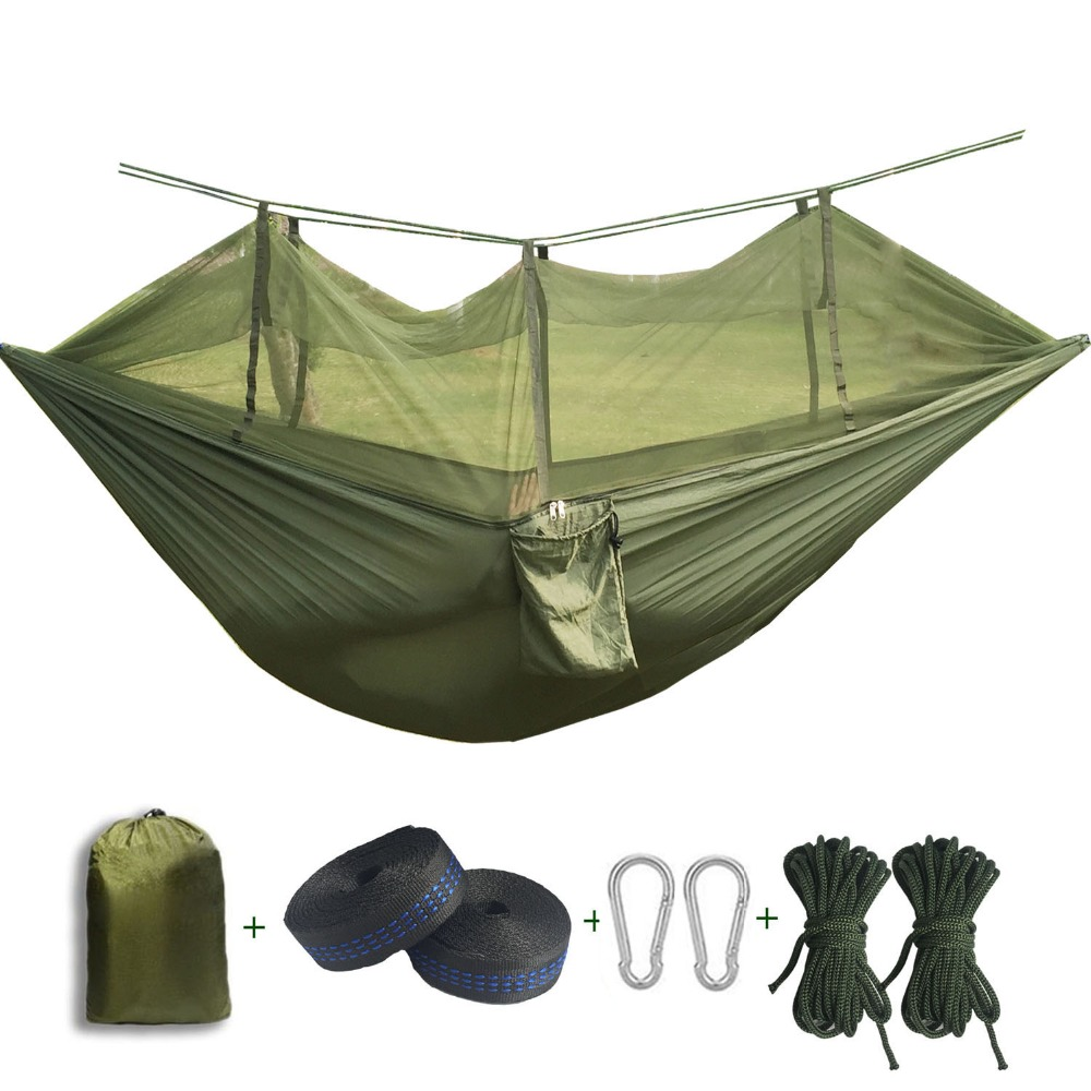 2017 Portable Anti-mosquito bites Hammock Parachute Fabric Mosquito Net for Indoor Outdoor Camping Using Reading/sleeping