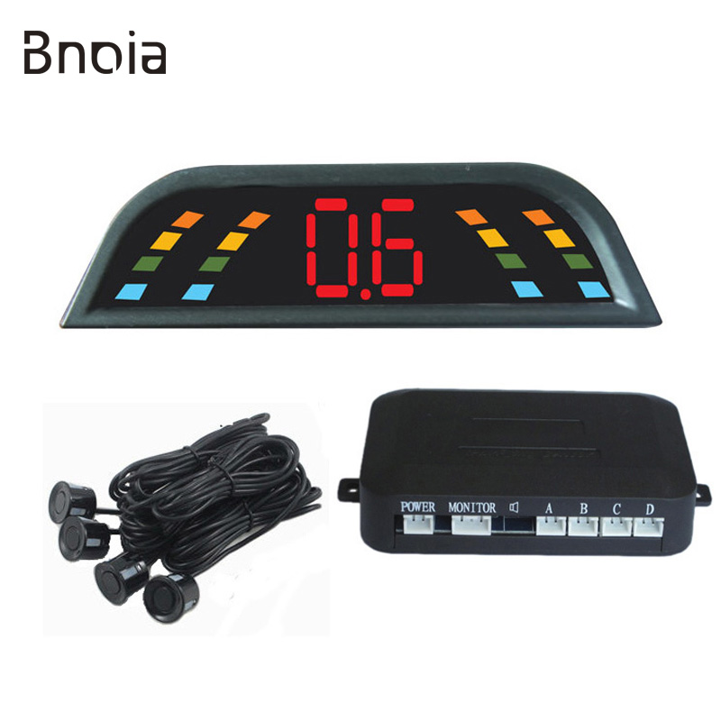 Car Parking Sensor Kit Car Auto LED Display 4 Sensors For All Cars Reverse Assistance Backup Radar Monitor Parking System C003P