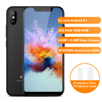 BLACKVIEW A30 Smartphone Android 8.1 Quad Core 5.5'' 19:9 Display 2G+16GB 8.0MP Dual Camera Mobile Phone 3G Cell Phone Unlock