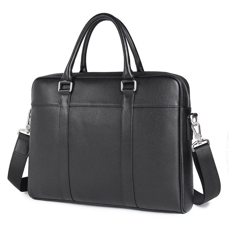 100% Genuine Leather Handbag Men's Messenger Bag For Business Briefcases 7401A