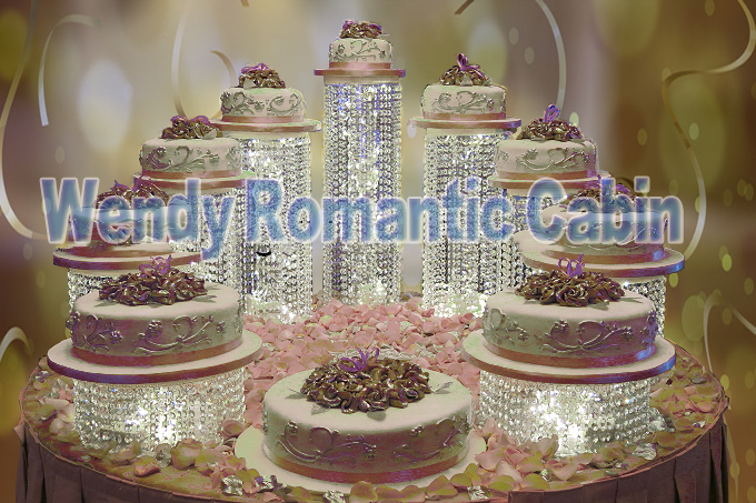 crystal wedding cake stand 9pcs set 2016 new cake stand for cake 3209