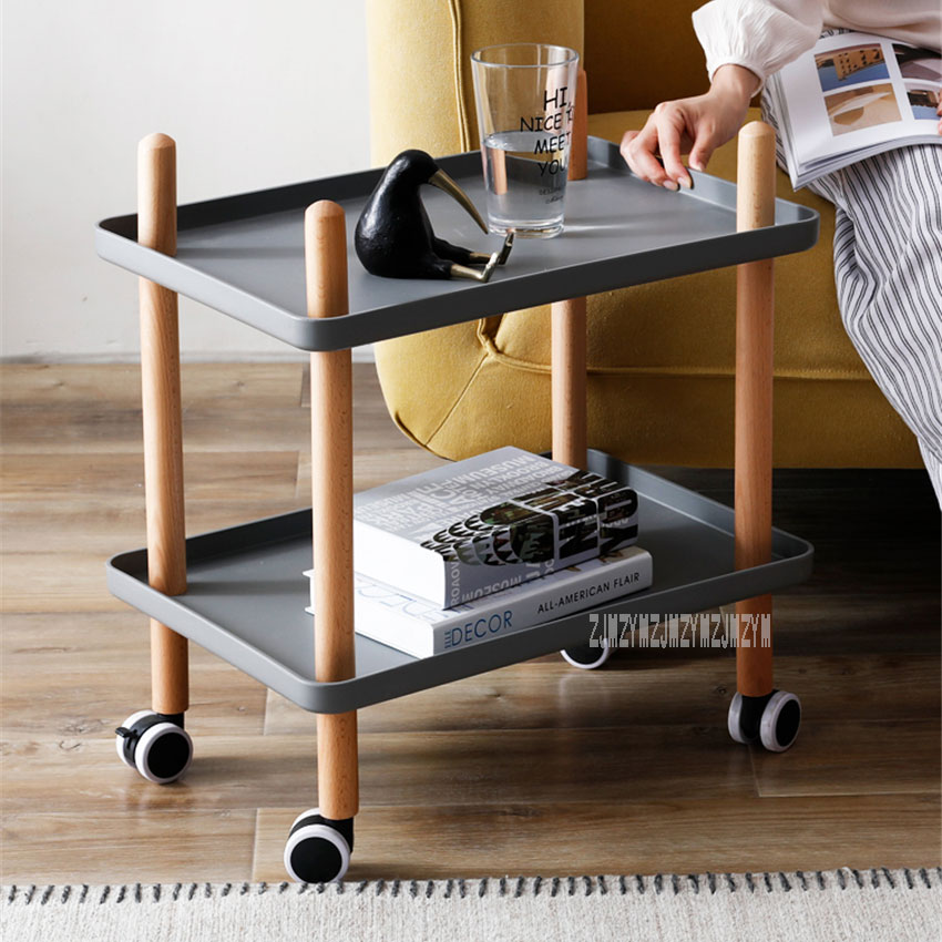 ZXHA-081A Multifunctional Removable Retangle Tea Table With Universal Pulley Storage Trolley Dining Car Mobile Coffee TableZXHA-081A Multifunctional Removable Retangle Tea Table With Universal Pulley Storage Trolley Dining Car Mobile Coffee Table