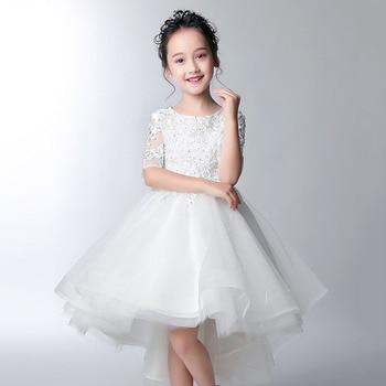 Summer Flower Girls Dresses Princess Ball Gown Formal Sequin Party Dress Girl Tutu Dress for Girl Teenager Wedding Kids Clothes
