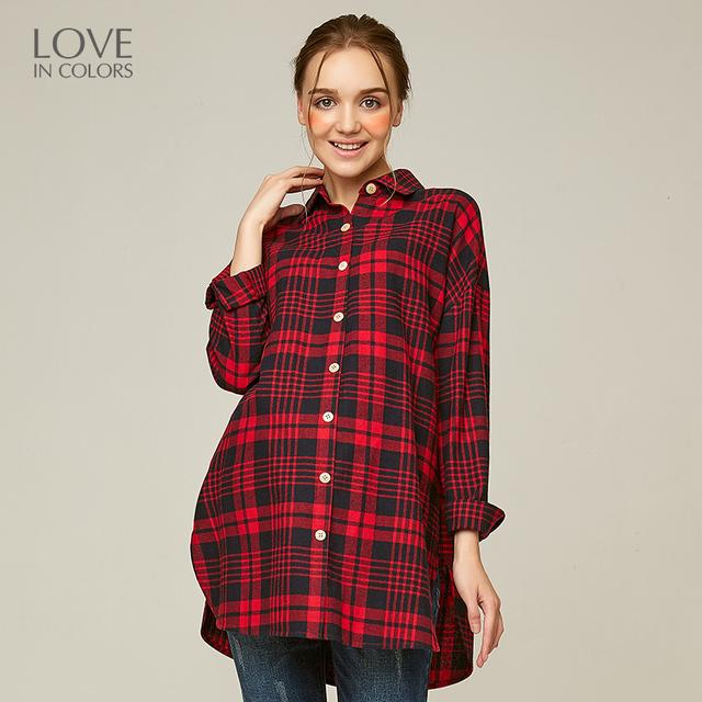 Loveincolors Nova Blusa de Algodão de Enfermagem da Maternidade Amamentação Mulheres Grávidas Gestantes Gestantes Vestido de Camisa Xadrez