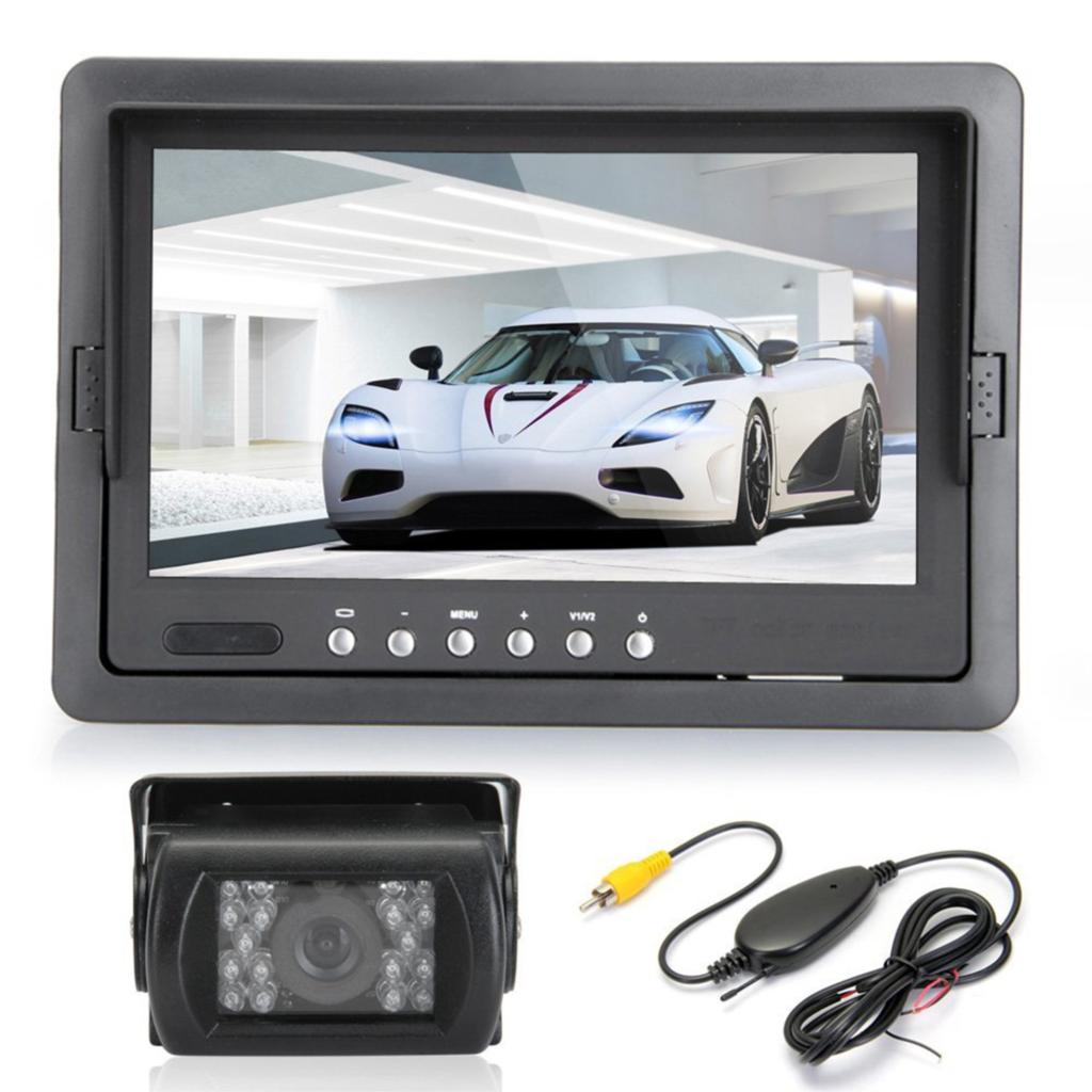 Hotsale new High Quality 7inch TFT LCD Car Rearview Monitor IR Reversing Backup 18 LED Night Version Camera