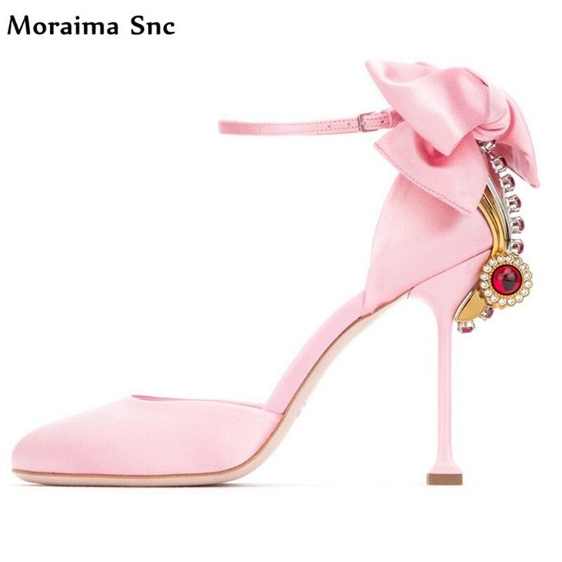 Здесь продается  Moraima Snc Sweet women wedding pumps butterfly-knot crystal Decoration fretwork high heel platform Round toe vintage suede  Обувь